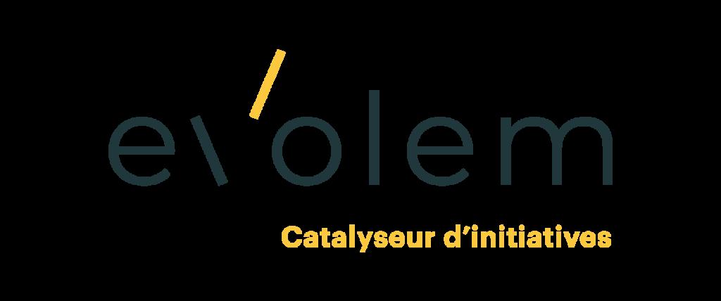 Logo Evolem avec signature sur fond transparent au format png