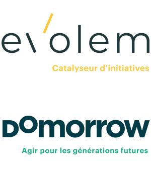 Logos d'Evolem et de Domorrow